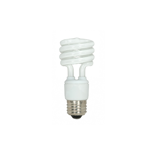 Satco Lighting 15-Watt Cool White Mini Compact Fluorescent Light Bulb S7222
