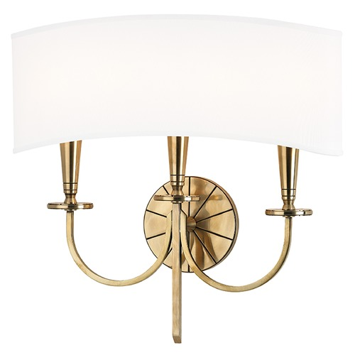 Hudson Valley Lighting Mason 3 Light Sconce - Aged Brass 8023-AGB