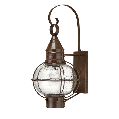 Hinkley Lighting LED Outdoor Wall Light with Clear Glass in Sienna Bronze Finish 2204SZ-LED