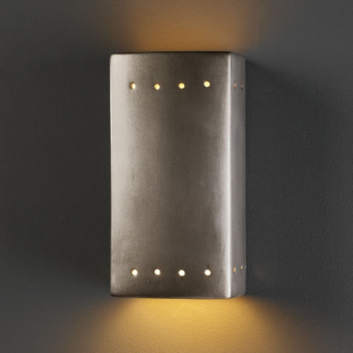 Justice Design Group Sconce Wall Light in Antique Silver Finish CER-5925-ANTS