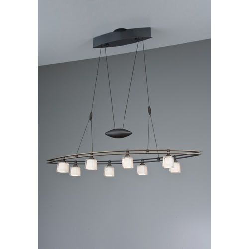 Holtkoetter Lighting Holtkoetter Modern Low Voltage Pendant Light with White Glass in Hand-Brushed Old Bronze Finish 5508 HBOB G5012