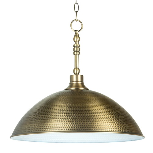 Craftmade Lighting Craftmade Timarron Legacy Brass Pendant Light with Bowl / Dome Shade 35993-LB