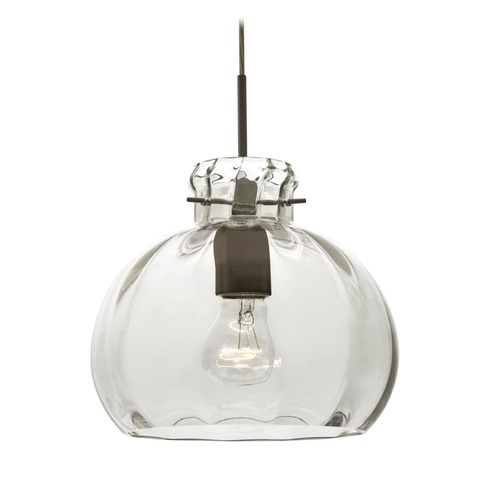 Besa Lighting Besa Lighting Pinta Bronze Pendant Light with Bowl / Dome Shade 1JT-464488-BR