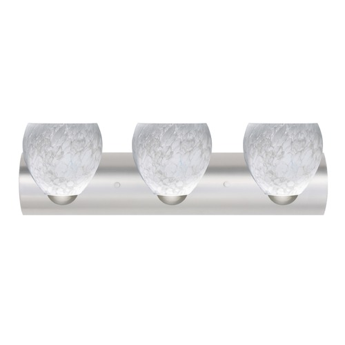 Besa Lighting Besa Lighting Bolla Satin Nickel LED Bathroom Light 3WZ-412219-LED-SN