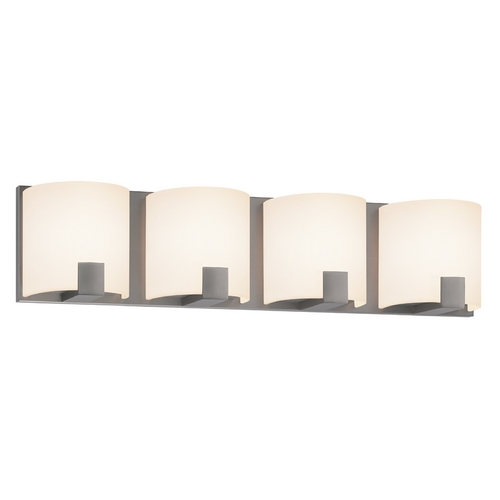 Sonneman Lighting Sonneman Lighting C-Shell Satin Nickel LED Bathroom Light 3894.13LED