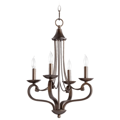 Quorum Lighting Quorum Lighting Lariat Oiled Bronze Mini-Chandelier 6031-4-86