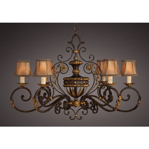 Fine Art Lamps Fine Art Lamps Castile Antiqued Iron with Gold Leaf Chandelier 218540ST
