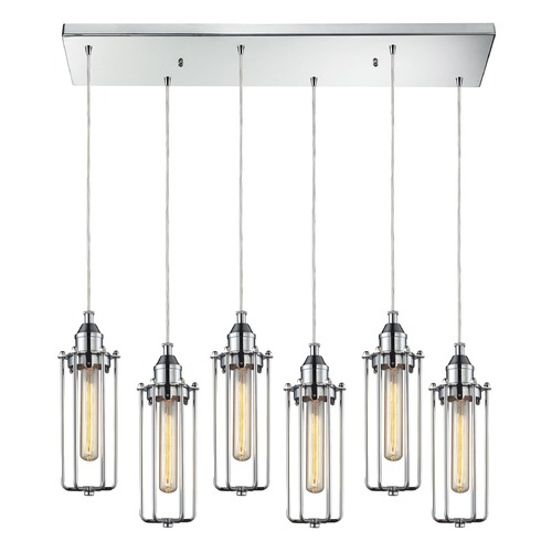Elk Lighting Elk Lighting Fulton Polished Chrome Multi-Light Pendant 66317/6RC