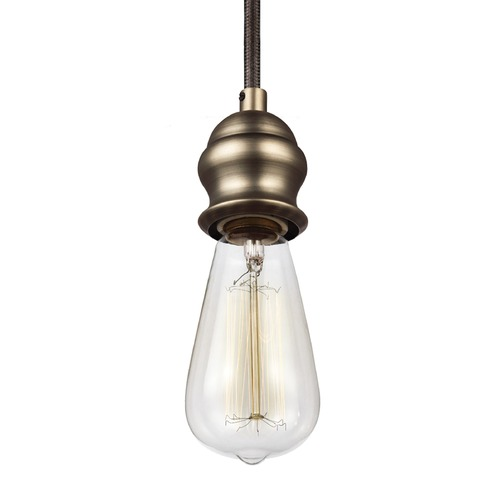 Feiss Lighting Feiss Corddello Dark Aged Brass Mini-Pendant Light P1367DAGB