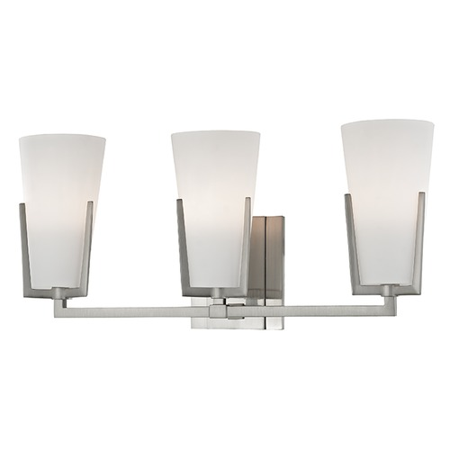 Hudson Valley Lighting Upton 3 Light Bathroom Light - Satin Nickel 1803-SN