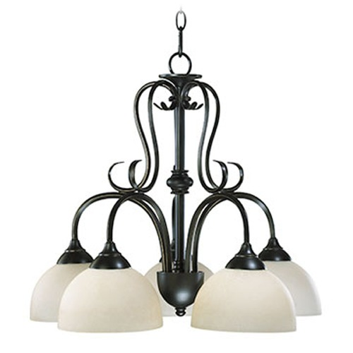 Quorum Lighting Quorum Lighting Powell Oiled Bronze Chandelier 6408-5-86