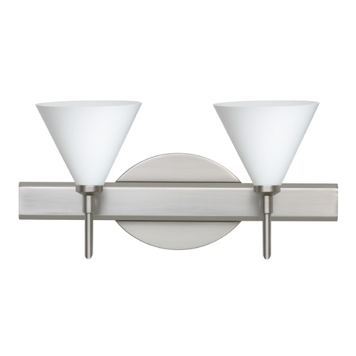 Besa Lighting Besa Lighting Kani Satin Nickel LED Bathroom Light 2SW-512107-LED-SN
