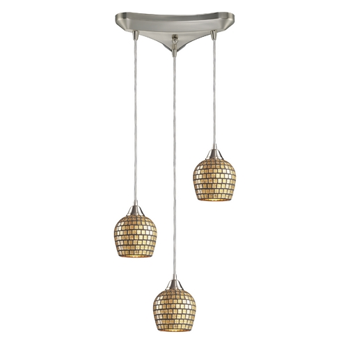 Elk Lighting Modern Multi-Light Pendant Light 3-Lights 528-3GLD
