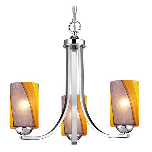 Design Classics Lighting Design Classics Dalton Fuse Chrome Mini-Chandelier 5843-26 GL1015C