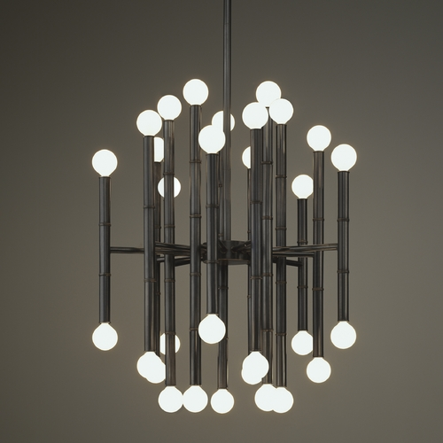 Robert Abbey Lighting Mid-Century Modern Chandelier Bronze Jonathan Adler Meurice by Robert Abbey Z654