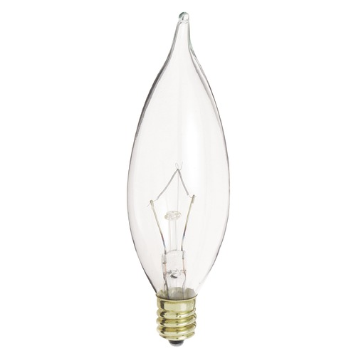 Satco Lighting Incandescent CA9 Light Bulb Candelabra Base 120V Dimmable by Satco S3275