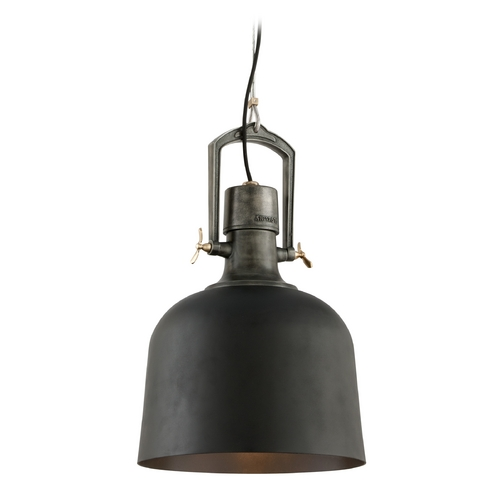 Troy Lighting Pendant Light in Old Silver / Aged Brass Finish F3546