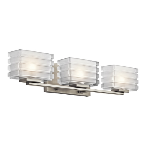 Kichler Lighting Kichler Lighting Bazely Brushed Nickel Bathroom Light 45479NI