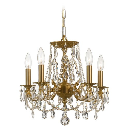 Crystorama Lighting Crystorama Lighting Gramercy Aged Brass Crystal Chandelier 5545-AG-CL-S