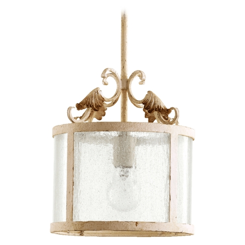 Quorum Lighting Quorum Lighting Florence Persian White Pendant Light with Drum Shade 3037-70