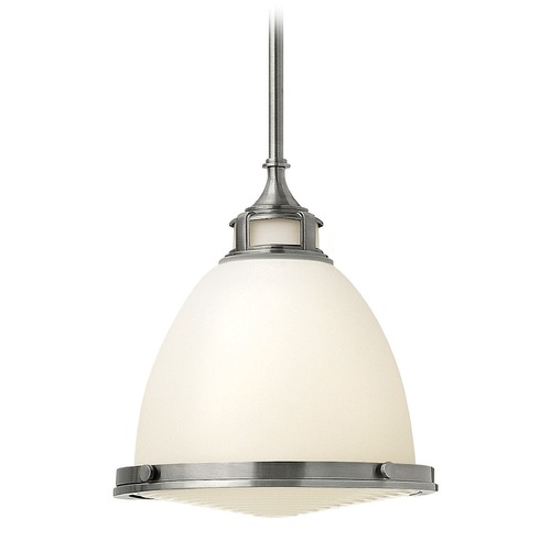 Hinkley Lighting Hinkley Lighting Amelia Polished Antique Nickel LED Mini-Pendant Light with Bowl / Dome Shade 3124PL-LED