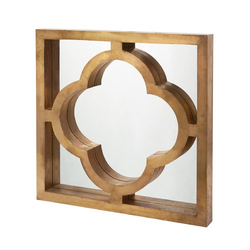 Dimond Lighting Quatrefoil Brass Clad Mirror 985-024