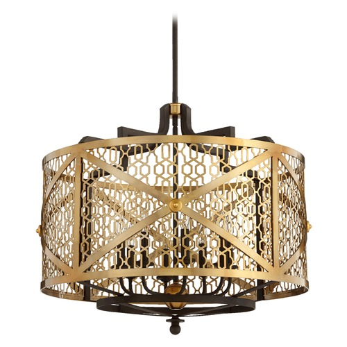 Quorum Lighting Quorum Lighting Renzo Aged Brass W/ Oiled Bronze Pendant Light 640-8-80