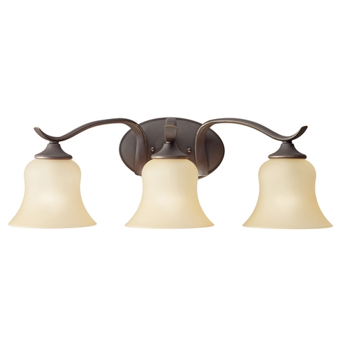 Kichler Lighting Kichler Bathroom Light with Beige / Cream Glass in Olde Bronze Finish 5286OZ