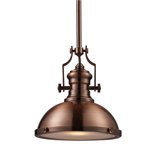 Elk Lighting Pendant Light in Antique Copper Finish 66144-1