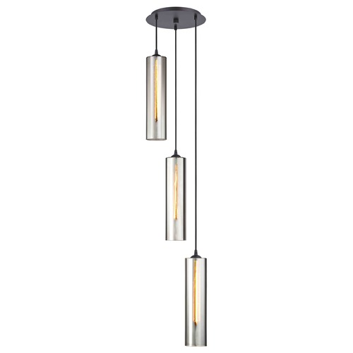 Design Classics Lighting Bronze Multi-Light Pendant with Cylindrical Shade 583-220 GL1652C