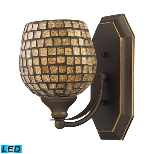 Elk Lighting Elk Lighting Bath and Spa Aged Bronze LED Sconce 570-1B-GLD-LED