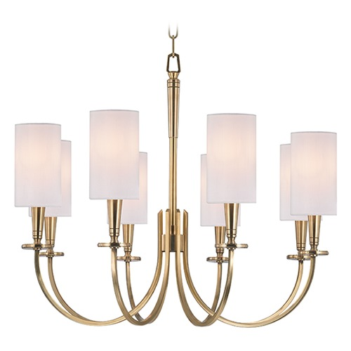 Hudson Valley Lighting Mason 8 Light Chandelier - Aged Brass 8028-AGB