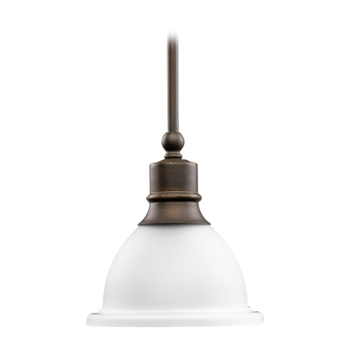 Progress Lighting Progress Mini-Pendant Light with White Glass P5078-20