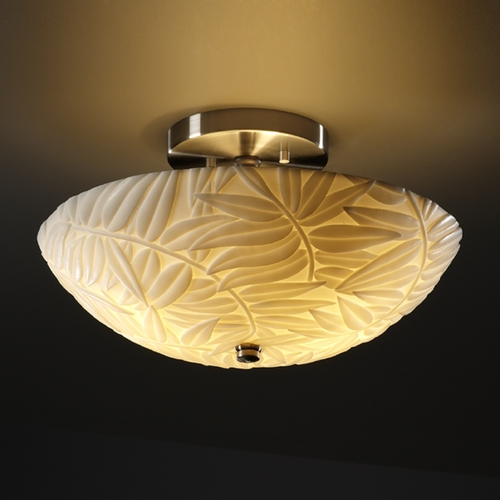 Justice Design Group Justice Design Group Porcelina Collection Semi-Flushmount Light PNA-9690-35-BMBO-NCKL