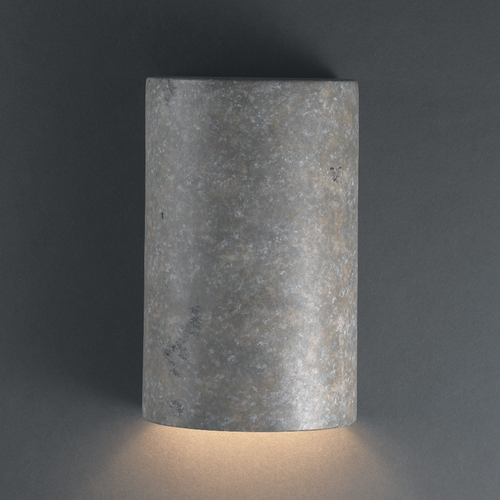 Justice Design Group Sconce Wall Light in Mocha Travertine Finish CER-5940-TRAM