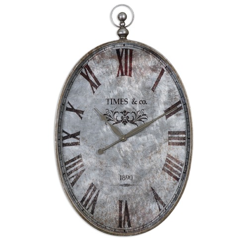 Uttermost Lighting Uttermost Argento Antique Wall Clock 06642