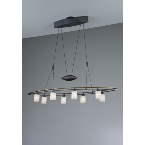 Holtkoetter Lighting Holtkoetter Modern Low Voltage Pendant Light with White Glass in Hand-Brushed Old Bronze Finish 5508 HBOB G5014