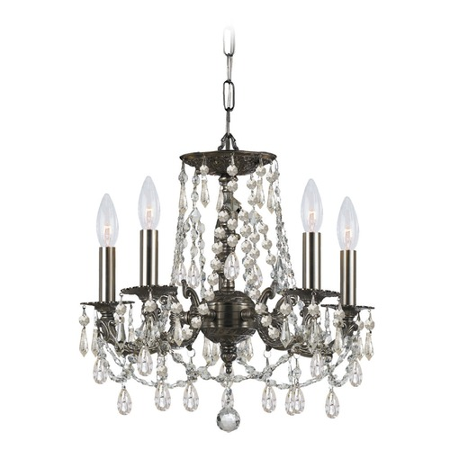 Crystorama Lighting Crystorama Lighting Gramercy Pewter Crystal Chandelier 5545-PW-CL-S