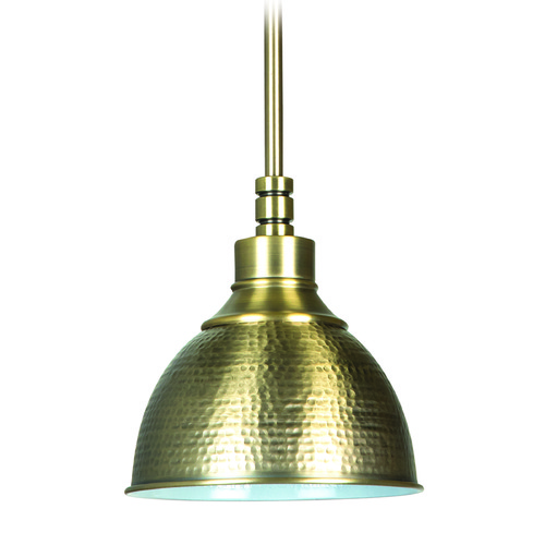 Jeremiah Lighting Jeremiah Timarron Legacy Brass Mini-Pendant Light with Bowl / Dome Shade 35991-LB