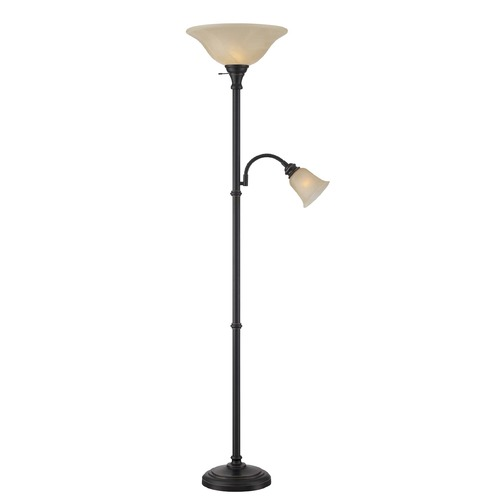 Lite Source Lighting Lite Source Henley Dark Bronze Torchiere Lamp with Bell Shade LS-82550D/BRZ