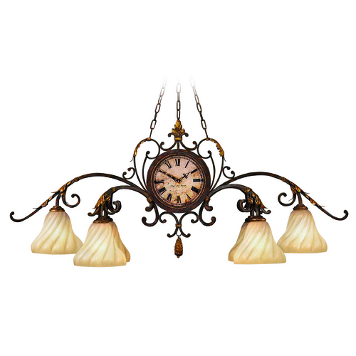 Fine Art Lamps Fine Art Lamps Castile Antiqued Iron with Gold Leaf Chandelier 302040ST