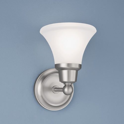 Norwell Lighting Norwell Lighting Elizabeth Brush Nickel Sconce 8951-BN-FL