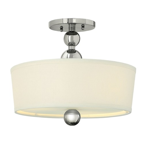 Hinkley Lighting Hinkley Lighting Zelda Polished Nickel LED Semi-Flushmount Light 3441PN-LED