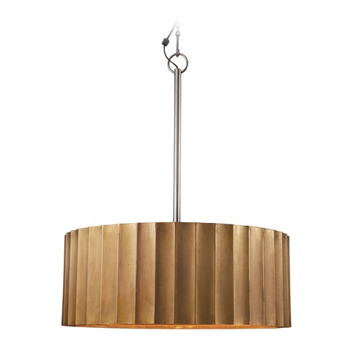 Dimond Lighting Large Brass Clad Ribbed Pendant 985-025