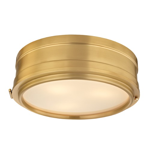 Hudson Valley Lighting Hudson Valley Lighting Rye Aged Brass Flushmount Light 2314-AGB