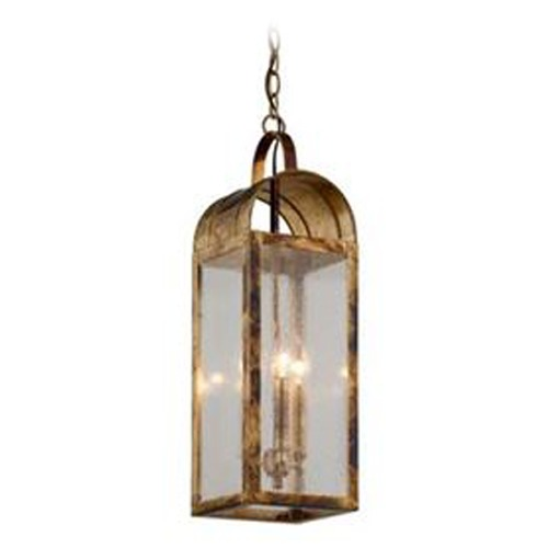 Troy Lighting Seeded Glass Outdoor Hanging Light Brass Troy Lighting F5097HB