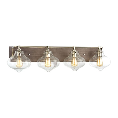 Elk Lighting Elk Lighting Kelsey Weathered Zinc, Polished Nickel Bathroom Light 31943/4