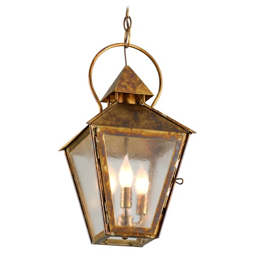 Troy Lighting Troy Lighting Allston Historic Brass Outdoor Hanging Light F6587HBZ