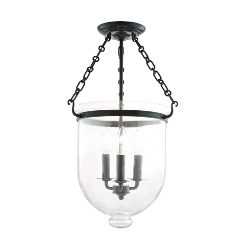Hudson Valley Lighting Semi-Flushmount Light with Clear Glass in Old Bronze Finish 253-OB-C1