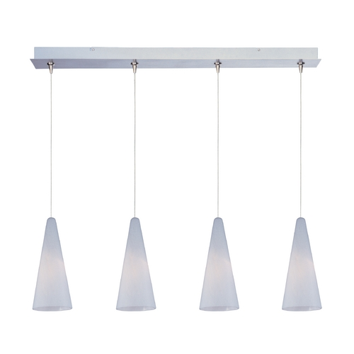 ET2 Lighting Modern Low Voltage Multi-Light Pendant Light with White Glass and 4-Lights E94928-101SN